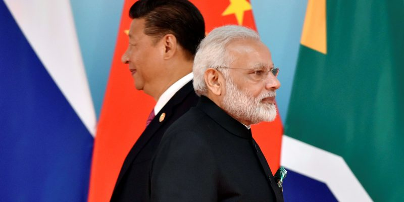 The US, with India in border confrontation with China