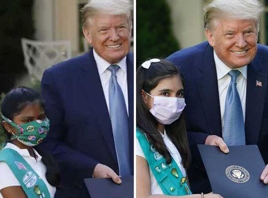 Donald Trump honored a 10-year-old Indian-American girl.