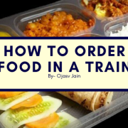 how to order food in a train