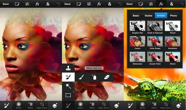 Adobe Photoshop Camera App available on smartphone