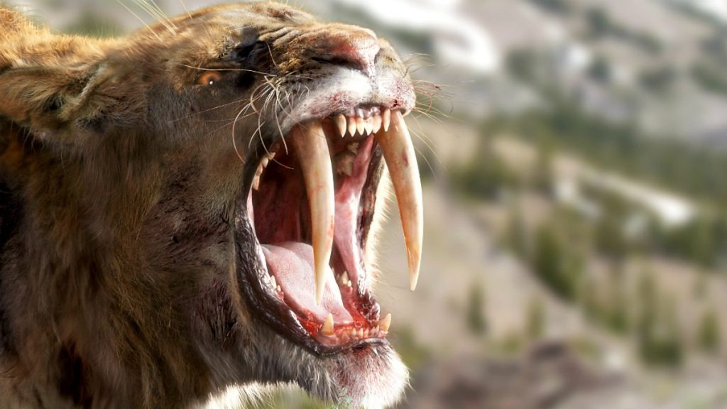 Dangerous animals in the world: Smilodon