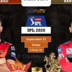 RCB vs SRH MPL match prediction IPL-2020