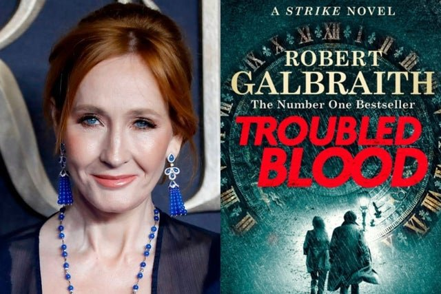 "JK Rowling's new book ""Troubled Blood"""