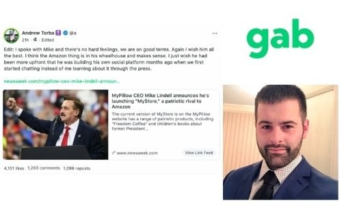 Frank speech news The Andrew Torba and Mike Lindell - Gab and Frank allegation