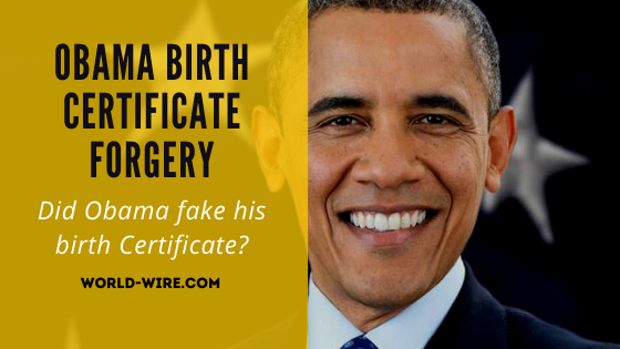 Obama birth certificate forgery