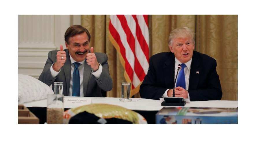 Mike Lindell with Donald Trump