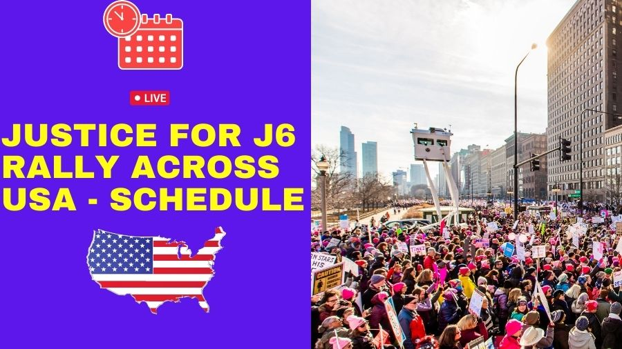 Livestream Schedule of Justice for J6 Rally on 25th September
